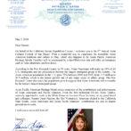 California State Senator Patricia Bates Welcome Letter